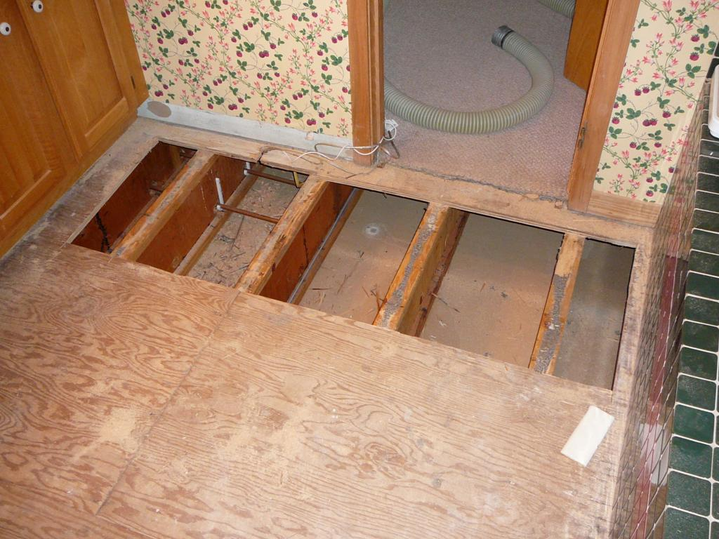 There was no insulation under old sub-floor. In order to get maximum efficiency  from the radiant mats, it was necessary to insulate.