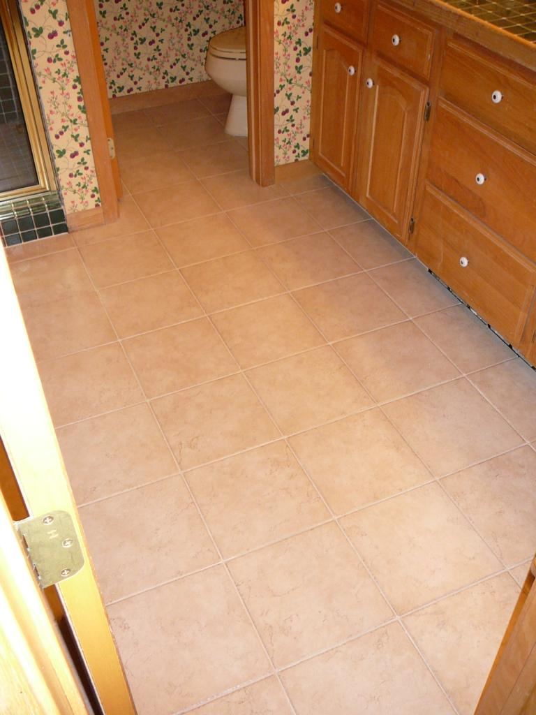 New Tile floor with radiant heat installed.